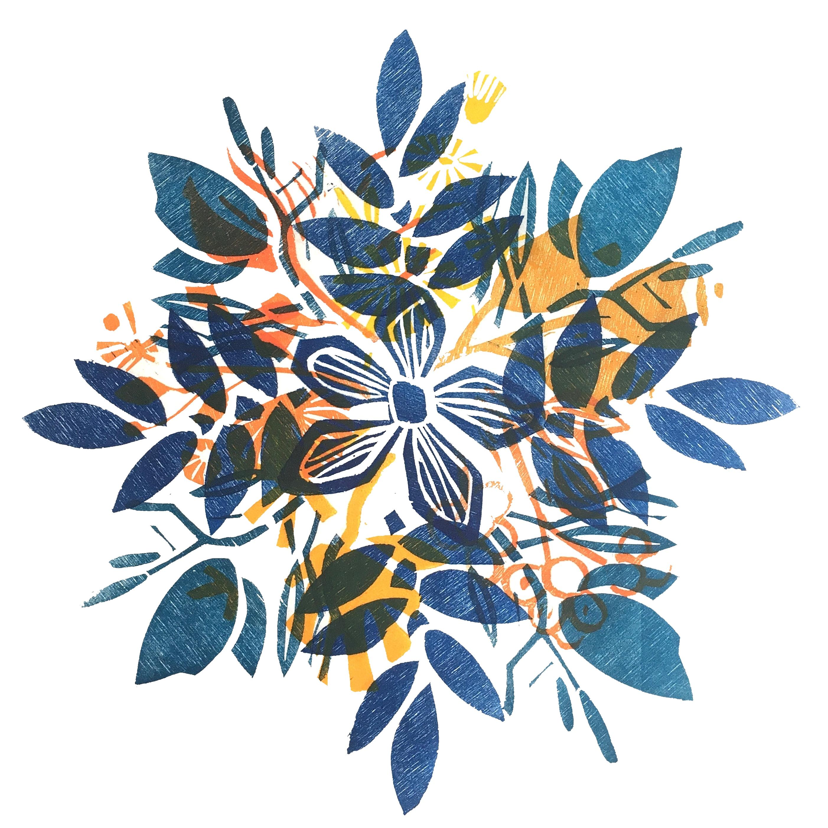 Nr.27 blau  30 cm x 30 cm