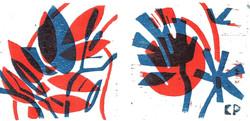 Nr. 8  blau rot  2 tlg.