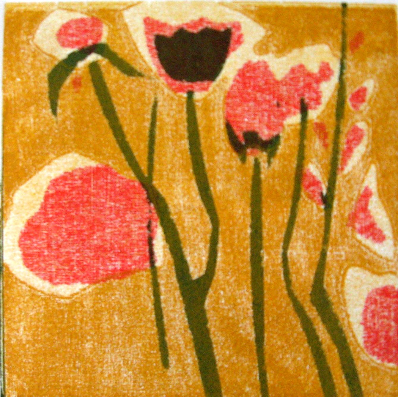 Nr.135 flowers  15 cm x 15 cm