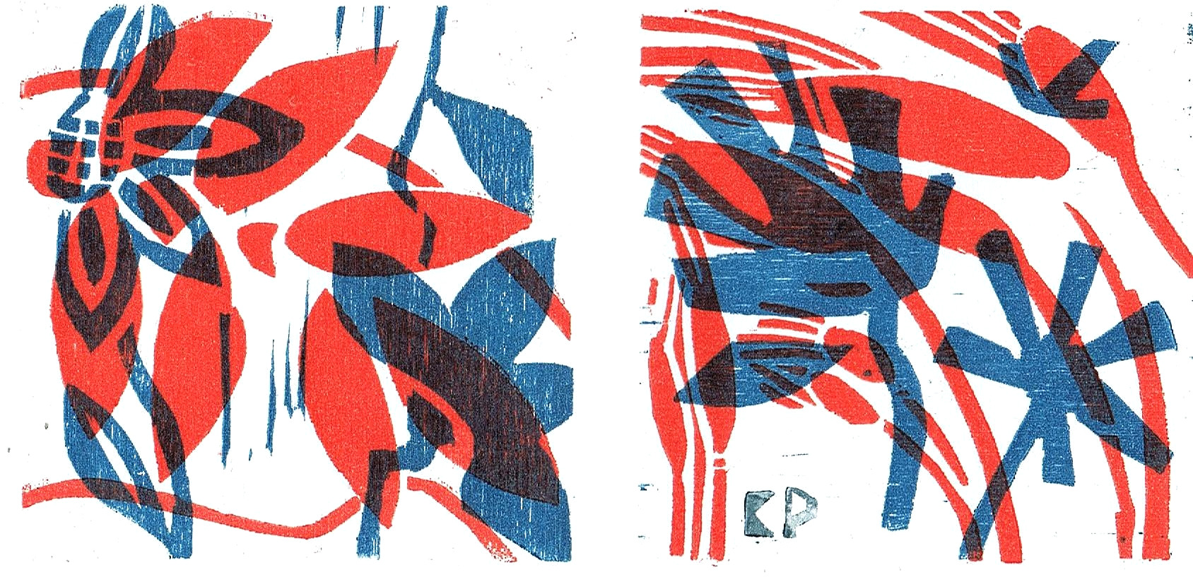 Nr. 10 Blau Rot   2 tlg.