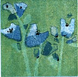 Nr.136 flowers  15 cm x 15 cm
