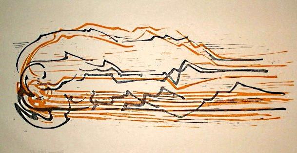 """Holzdruck zum """"BOLERO"""" von Maurice Ravel"""