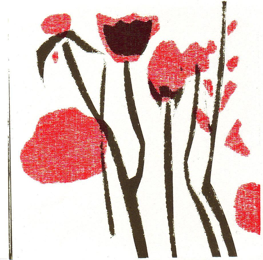 Nr.183 flowers  15 cm x 15 cm