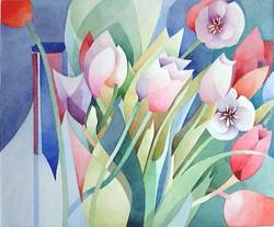384  Tulpen in Vase