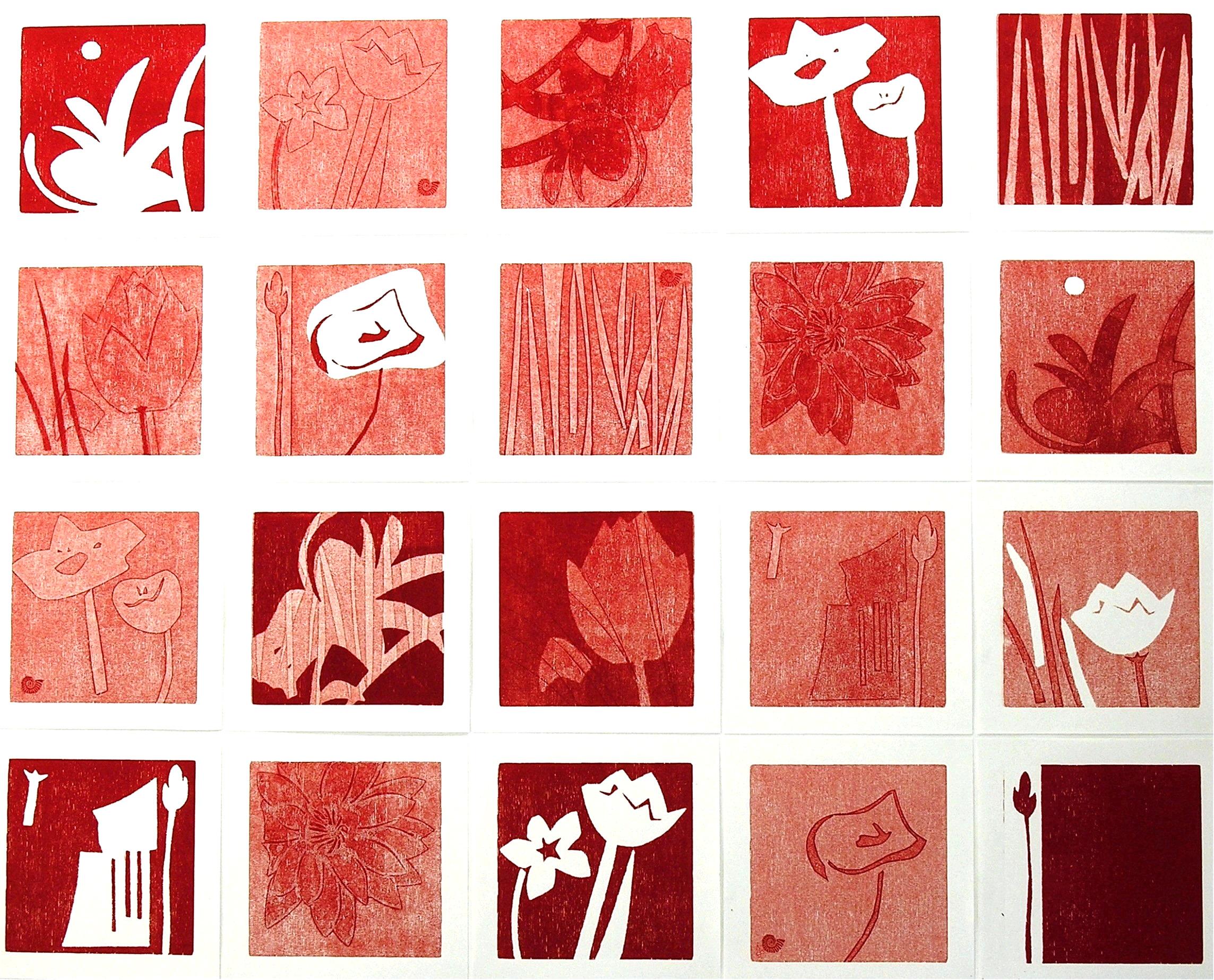 Nr.485  Collage rot  60 cm x 80 cm