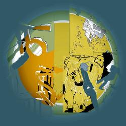 gelber Planet