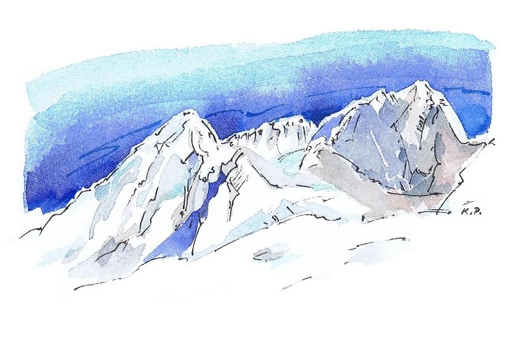 Bergpanorama in Gstaad