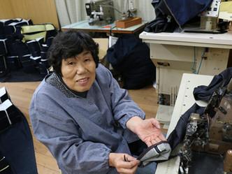 岡山の至宝、その道60年の縫製技術