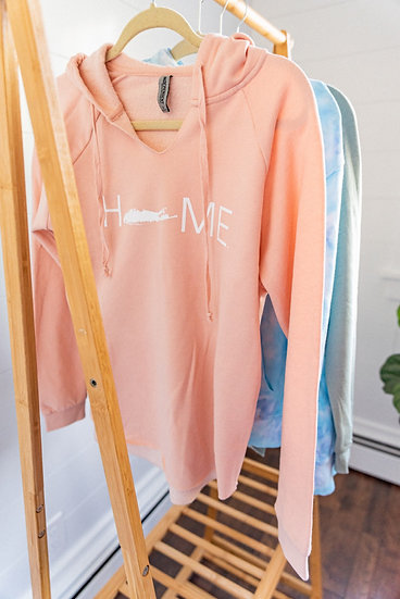 women's california wave wash hooded pullover in blush