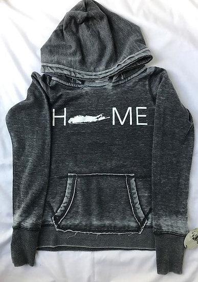 womens home hoodie in dark smoke
