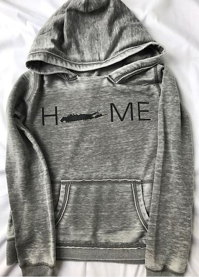 womens home hoodie in gray