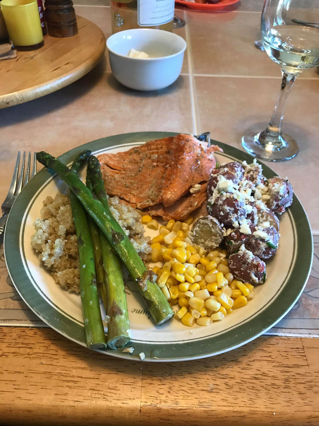 Garlic butter pan-fried Springhills trout