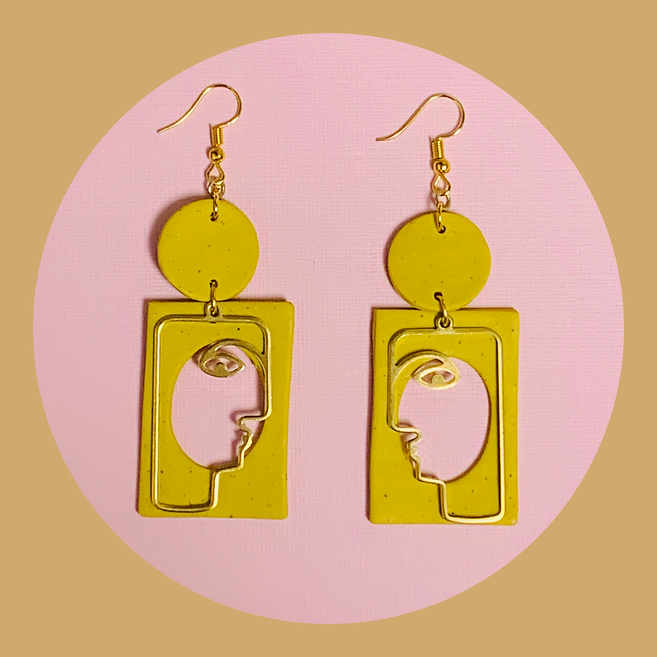 Lemon Poppy Gigi Earrings