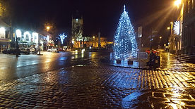 Skipton High street Christmas tree