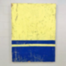 yellow and blue concrete painting