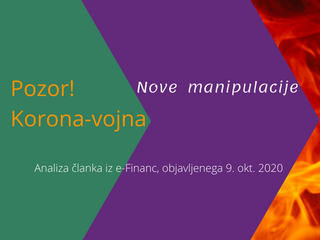 POZOR, KORONA-VOJNA, 4.del Najnovejše provladne agitacije in manipulacije