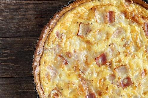 """9"""" Bacon, Cheddar, & Onion Quiche"""