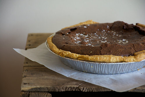 """9"""" Sea Salt Chocolate Chess Pie by Whisked"""