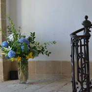 Bouquet dans l'escalier