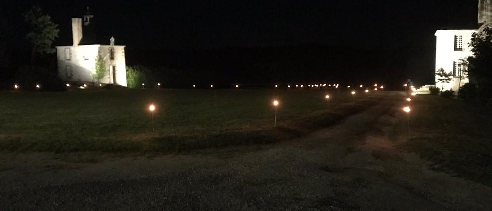 Cours d'honneur de nuit