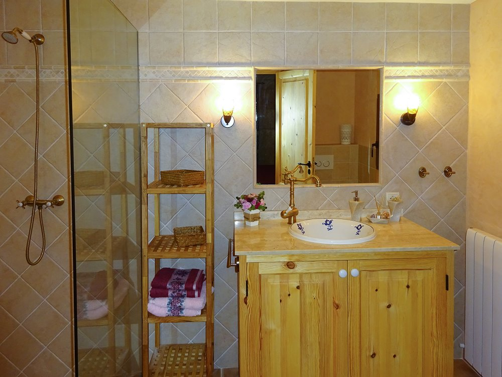 großes Duschbad mit WC