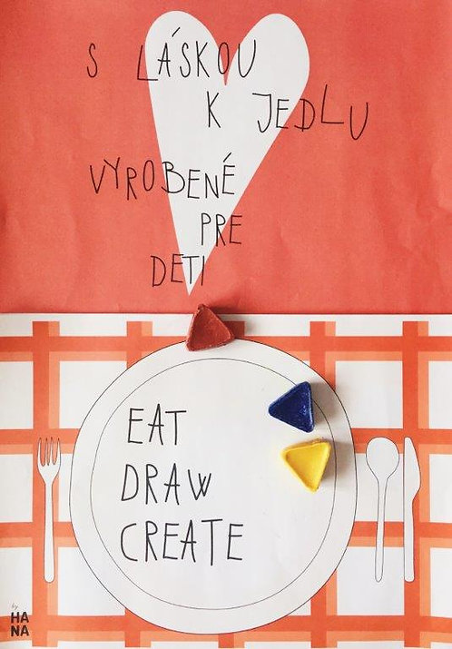 Eat, draw, create workbook