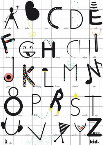 Alphabet poster for KID shop up