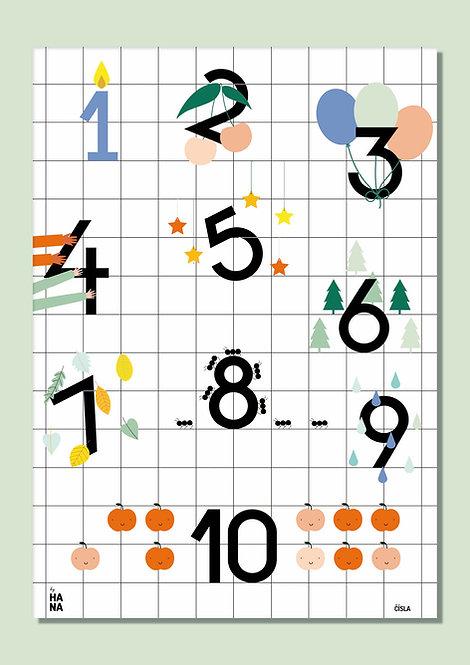 Číslový plagát / Numbers poster