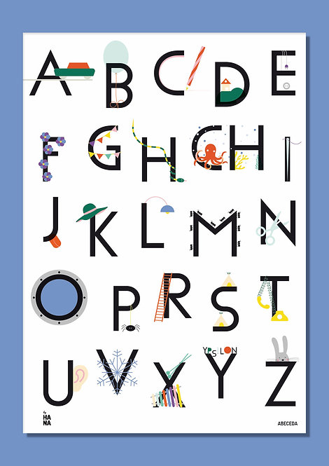 Abeceda poster - 1st edition