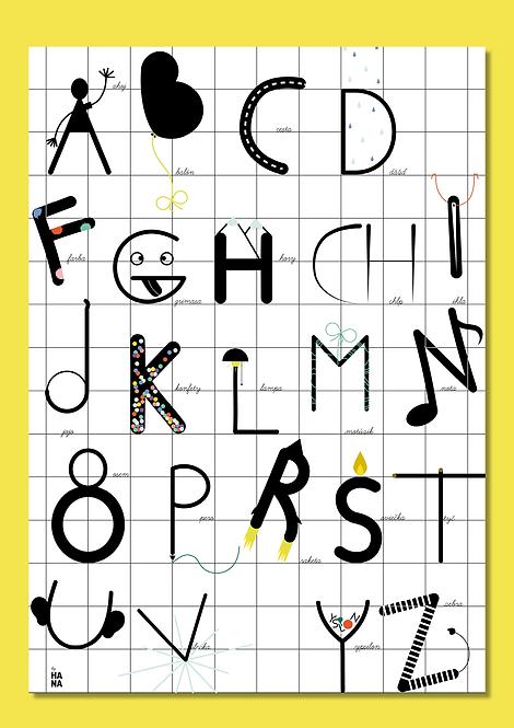 Abeceda poster for KID