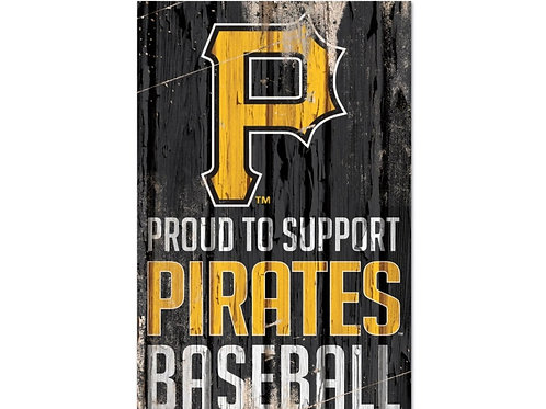 Pittsburg Pirates 11x17 Wood Sign