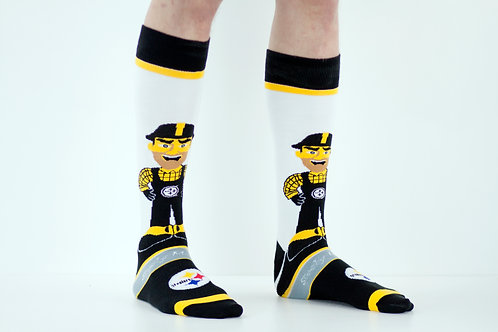 Steelers Steel Worker Tube Socks
