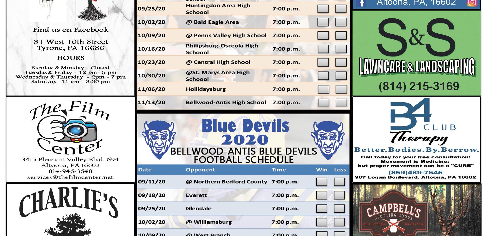 tyrone bellwood football schedule 2020.j