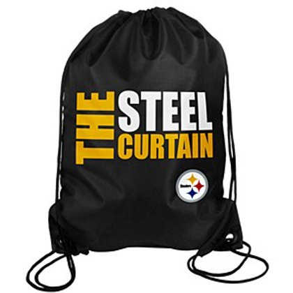 Pittsburgh Steelers Slogan Drawstring Bag