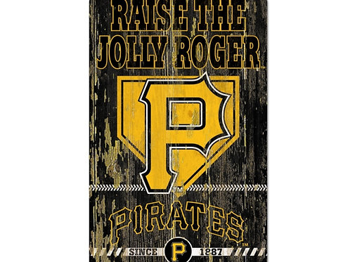 Pittsburgh Pirates 11x17 Wood Sign