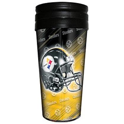 Pittsburgh Steelers 16 Oz Logo Wrap Coffee Travel Mug