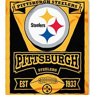 Pittsburgh Steelers 50″ x 60″ Marque Fleece Throw
