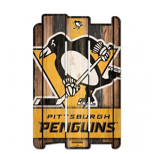 Pittsburgh Penguins 11x17 Wood Fence Style