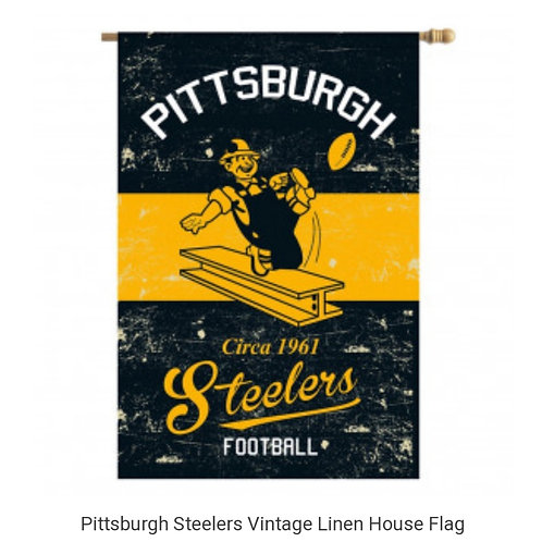 Steelers Linen House Flag