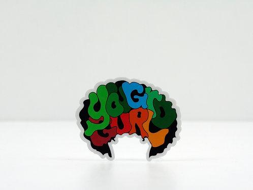 YGG Afro Sticker
