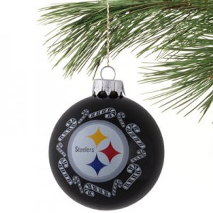 Steelers Candy Cane Ornament