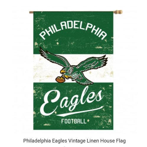 Eagles Vintage Linen House Flag