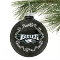 Eagles Candy Cane Ornament