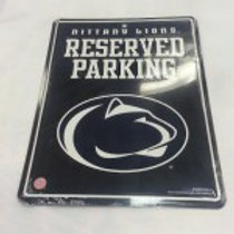 PENN STATE RESERVED PARKING METAL SIGN