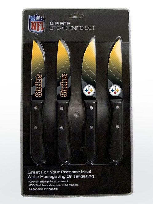 Steelers 4 Piece Steak Knife Set