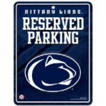 Nittany Lions Reserved Parking Metal Sign