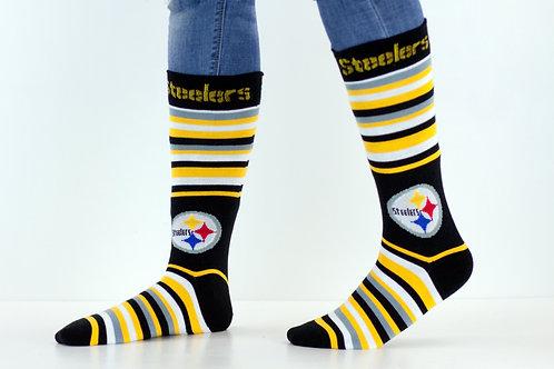 Striped Steelers Socks