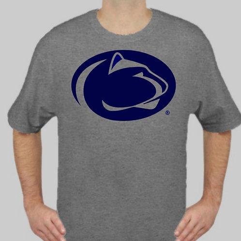 Penn State Logo Tee Gray