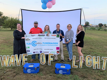 Three Little Birds presents Jefferson Health with three large gifts at Annual Wave of Light event!