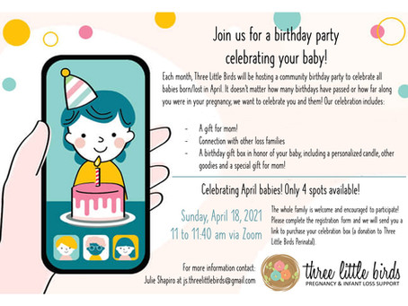 YOU'RE INVITED! Join us for our Virtual April Birthday Party!
